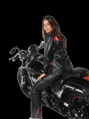 capa de chuva impermeável feminina preta alba