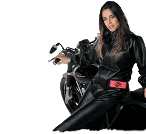 jaqueta impermeável feminina alba moto