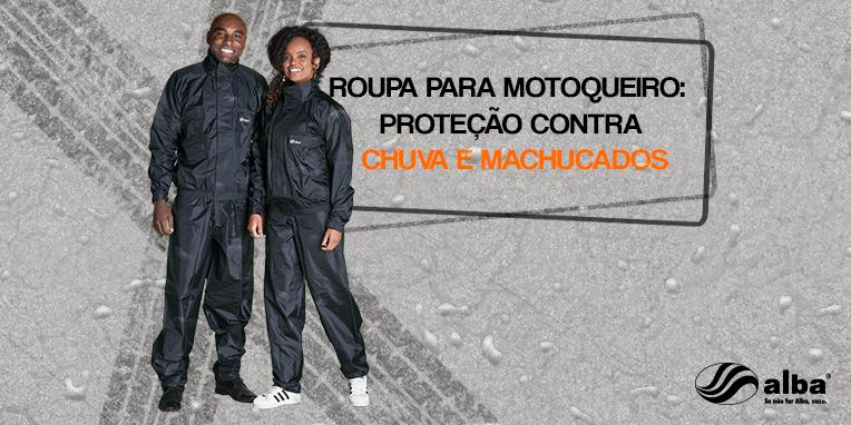 roupa para motoqueiro: proteção contra chuva e machucados