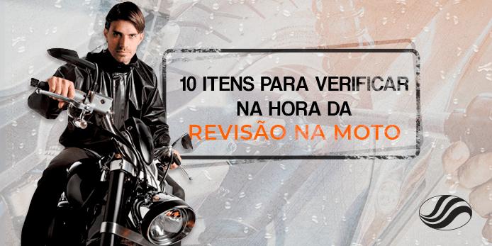 Revisão na moto: veja 10 itens que devem ser verificados