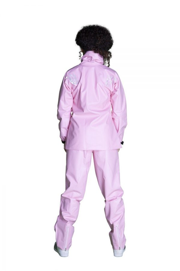 capa de chuva motoqueiro feminino rosé