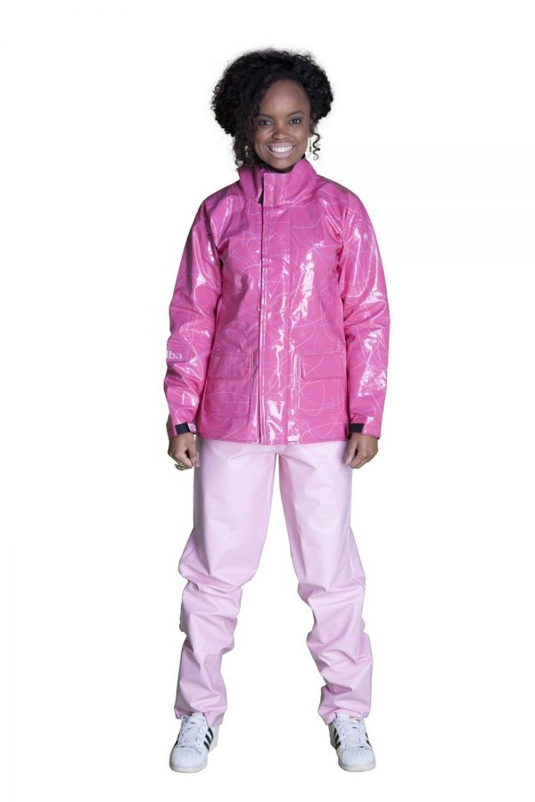 capa de chuva iara pink