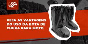 bota de chuva para moto alba - veja todas as vantagens