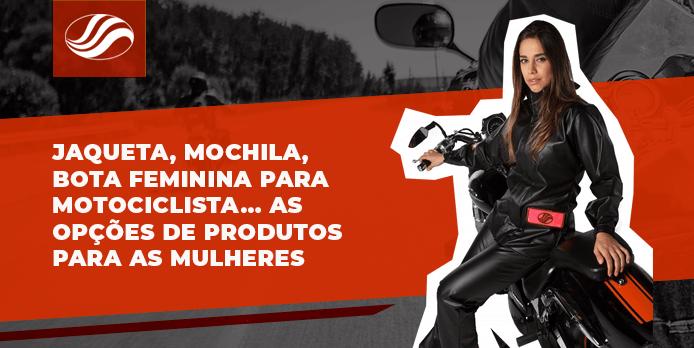 bota feminina para motociclista, Jaqueta, mochila, bota feminina para motociclista… As opções de produtos para as mulheres, Alba Moto