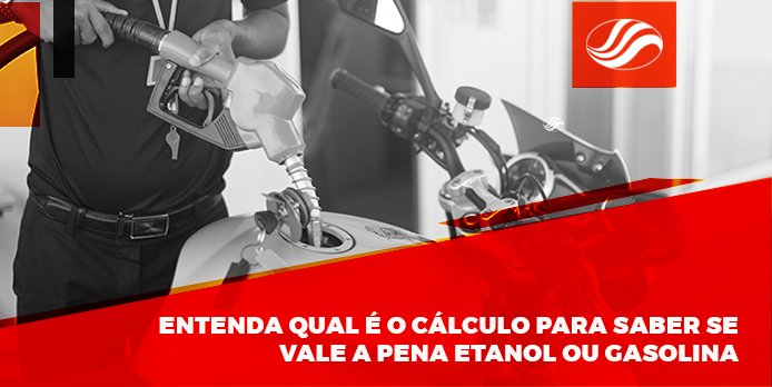 cálculo do etanol ou gasolina na moto